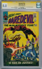 Daredevil #14 CGC 8.0 Signature Series Signed Stan Lee  Silver Age Marvel comic